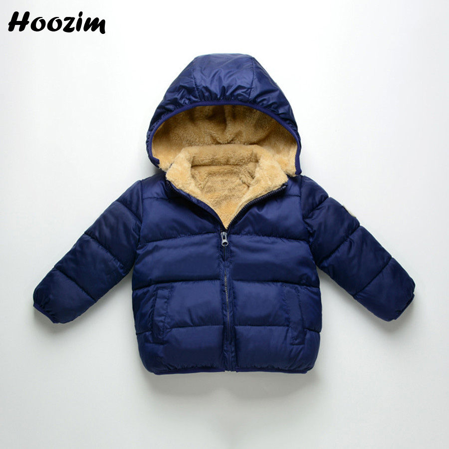 Boys Jacket Fashion Autumn Blue Warm Coat Kids Casual Winter Hooded Fleece Jacket Children Black Baby Coat Spring Boys Clothing yingzifang new autumn winter baby coat boys girls cotton cute bear hooded coat casual kids jacket children clothing sports suit