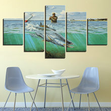5 Panel HD Print Fishing in the sea wall Art posters Print On Canvas Art Painting Modular Wallpaper For home living room decorat naturally beautiful places in india landscape 5 panel hd print wall posters canvas art painting for home living room decoration
