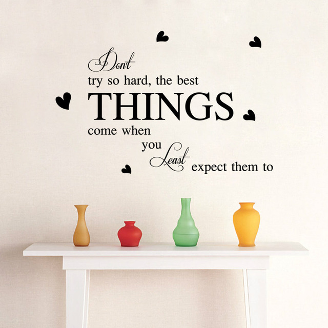 The Best Things Come When You Least Expect Them Wall Decals Love