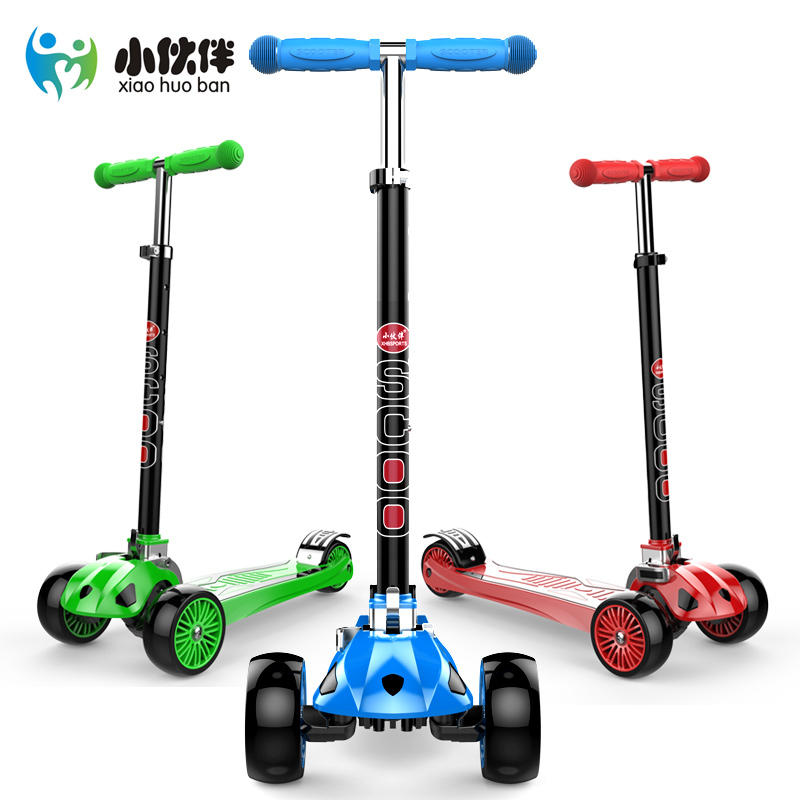 GF08 New Real Kids Light Scooter Child2-15 Age Midou Toddler 3 in1 Kick Scooter With Big Light Up Wheels, CE Was Approved