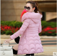 2017 explosion models new winter women's Korean Slim down cotton jacket padded jacket and long sections fur collar fashion