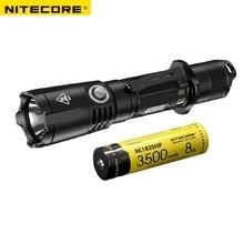 Nitecore mh25gts cree xhp35 hd led 1800 lumens de carregamento usb lanterna tática com nitecore nl1835hp bateria