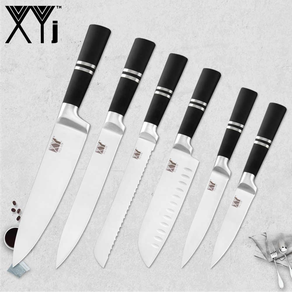 XYj Japanischen Edelstahl Küche Messer Obst Schäl Utility Santoku Chef Schneiden Brot Koch Messer Halter Spitzer Bar