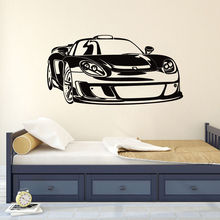 Sport Racing Car Wall Decal Removable Vinyl Vehicle Sticker Kids Boys Bedroom Decoration Art Poster AY856