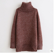 In 2016 new winter fashion women's clothing a turtle neck long sleeve sweater sets long with thick loose knitted T-shirt  D-0465