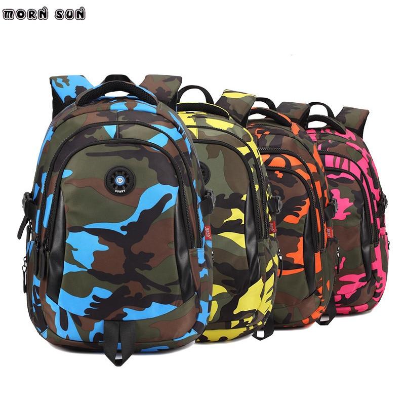 Camouflage font b Backpack b font Schoolbag font b For b font Girls Boys Children font