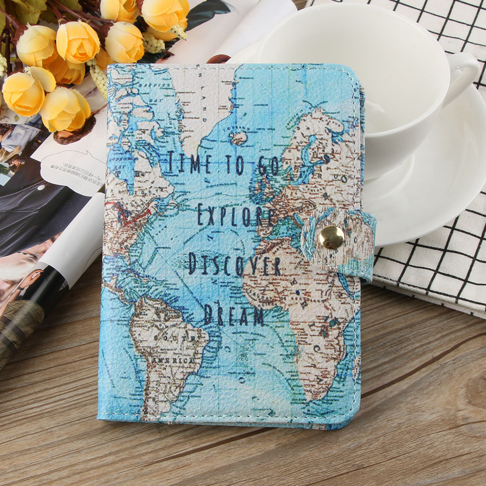 Hot Sale Pineapple Printed Passport Holder Covers Unisex PU Leather Blocking ID Card Case Cover Travel  Accessories
