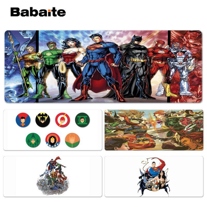 Babaite Нескользящие PC Лига Справедливости офисных мышей геймер мягкие Lockedge Мышь Pad Размеры для 30x90 см 40x90 см Скорость Мышь Pad