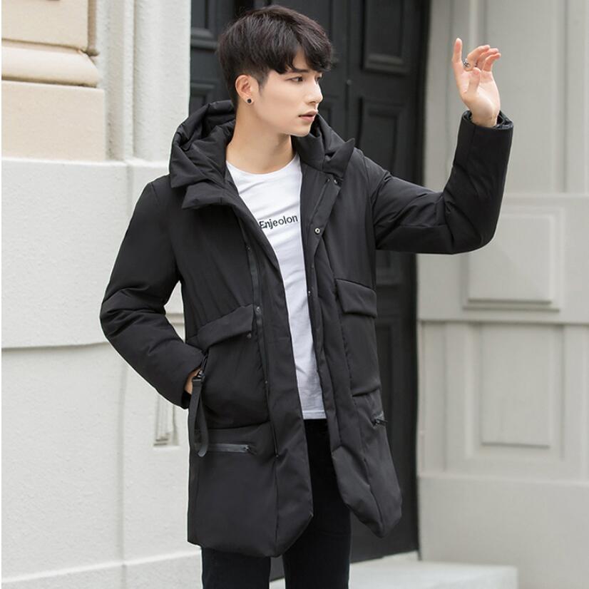 2018 New Winter Jacket Men Slim Thick Warm   Parkas   Top Quality Waterproof Zipper Brand Clothes For Men Fashion Winter Coats Man