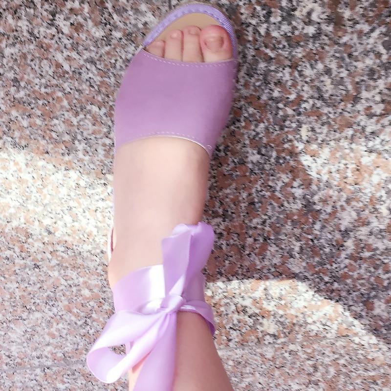 Troupeau black 41 Gery Couleur Élégantes Base Sandales 43 Avec Grande purple Taille beige forme Femm Femmes Solide Ruban Femme De Pour Plate Filles Chaussures pq1rpwt