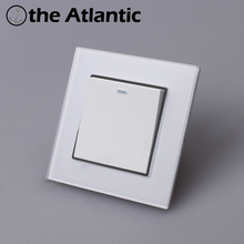 Atlantic Switch 1 Gang Switch Luxury Crystal Glass Panel Light Switch Push Button Wall Switch Interruptor 16A Standard