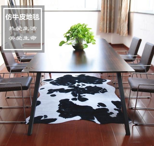 Nachahmung Rindsleder Teppich Tier Bodenmatte Wohnzimmer Schlafzimmer  Kaffee Braun Schwarz Und Weiß Mode Originalität Teppich