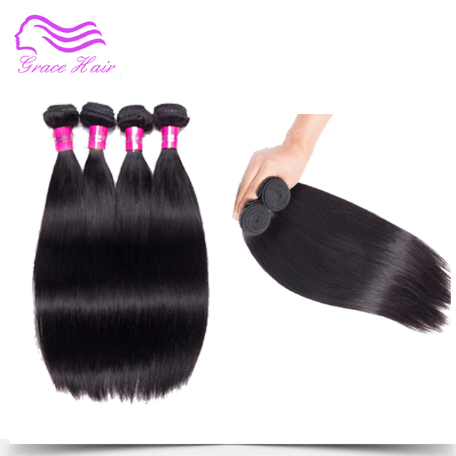 Grace Hair Peruvian Virgin Hair Straight 3 Bundles Human Hair
