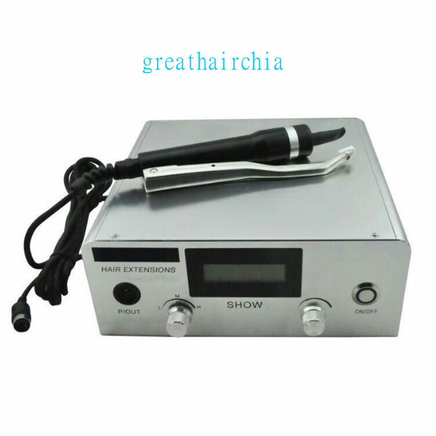 1 peça profissão forte High-end Mais Recente Digital Ultrasonic extensão do cabelo da queratina Máquina Conectores JR999 Cor prata & preto