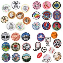 5PCS /Lot Embroidered Badge Chapter Cloth with Soccer Basketball Patch Garment Accessories Applique Diy Back Glue Patches