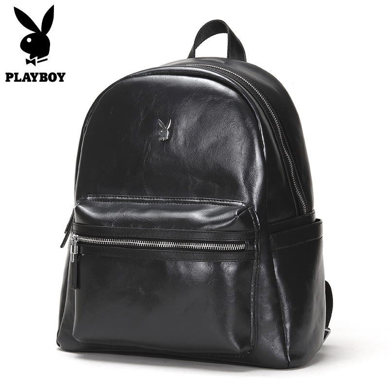 Playboy Leather Backpacks 2018 New Fashion Men Luxury Male Bag High Quality Laptop Messenger Travel Backpack School Bag new fashion backpack women backpacks men s travel bags casual backpack men laptop backpacks luxury designer men s school bag