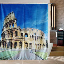 Ancient Roman Colosseum Shower Curtain Polyester Waterproof Mould Proof Shower Curtain 180x200cm