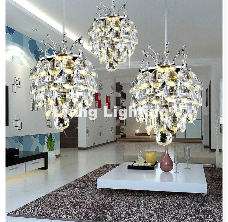 Free Shipping LED Crystal Pendant Lamp 24W Creative Restaurant Cord Pendant Lighting FixtureS Contemporary Style 110-240V Lamp best price rectangular crystal chandeliers k9 crystal ceiling lamp lighting fixtures restaurant led lighting e14 free shipping