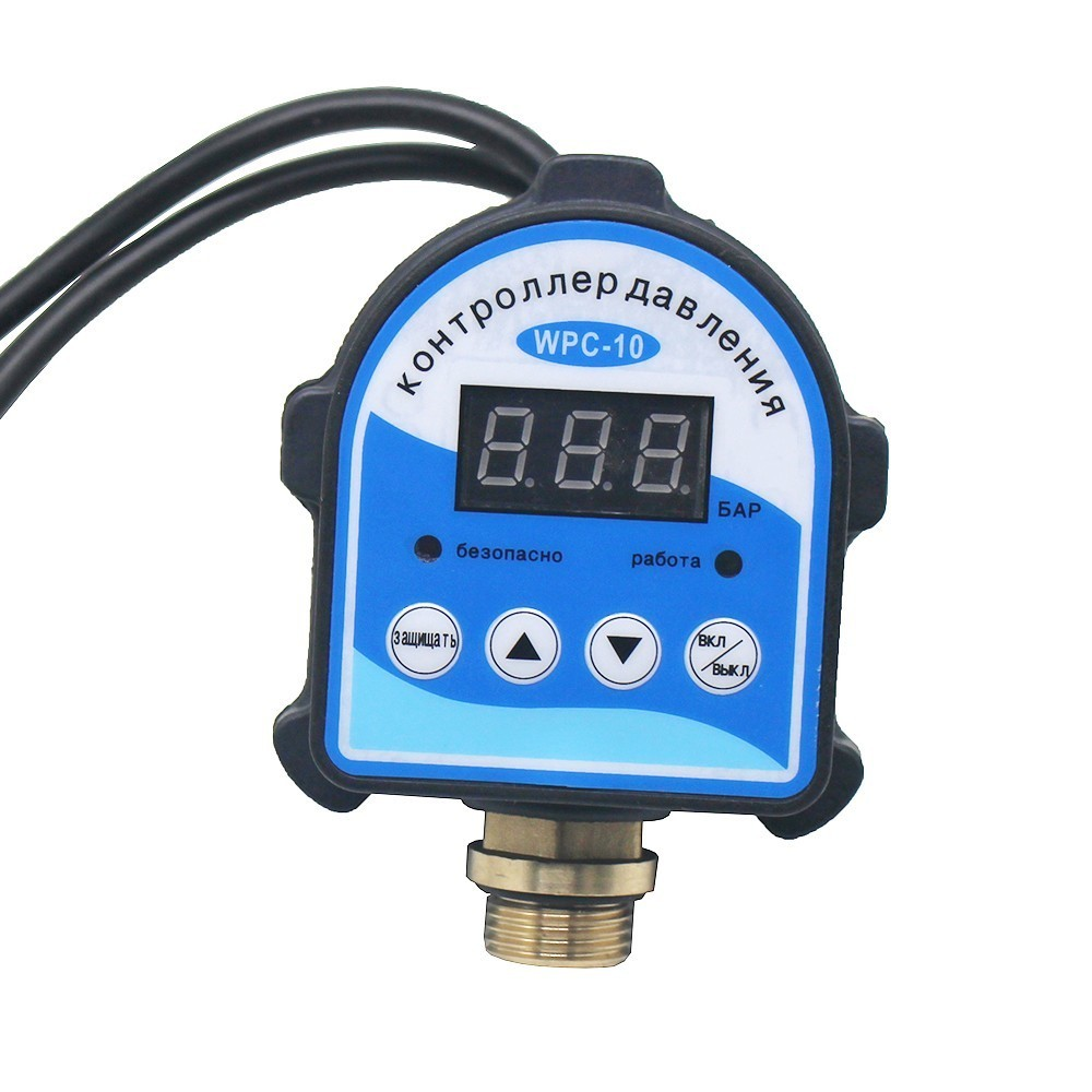 Russe Numérique LED Affichage Pompe À Eau Interrupteur de Contrôle De Pression G1/4 G3/8 G1/2 WPC-10, Eletronic Contrôleur Capteur Avec Adaptateur