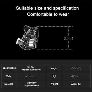 Image 5 - CTZเทอร์โมมิเตอร์วัดไข้ทางหูDIY Custom Made 16BA Balanced Armature Unitไดรเวอร์0.78มม.2ขาหูฟังDJหูฟังตัดเสียงรบกวนสำหรับiPhone xiaomi