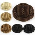 1 PC 70g Bun extension Womens Ladies Trendy Clip-on Synthetic Hairpiece Dish Hair Bun Contract Tail Wig Free Shipping