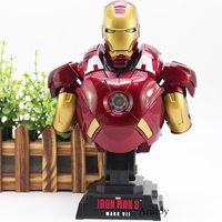Super Hero Iron Man Action Figure Iron Man 3 MARK VII Toy with LED Light 23cm Avengers marvel comics