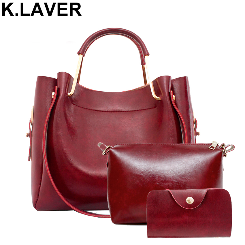 Brand Women Bag Set 3pcs High Quality Leather  Women's Shoulder Ladies Messenger Female Handbag Crossbody Bags Purse pu high quality leather women handbag famouse brand shoulder bags for women messenger bag ladies crossbody female sac a main