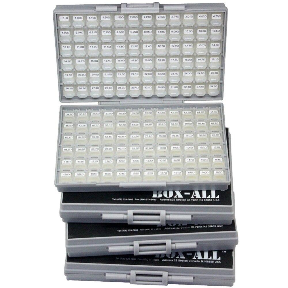 AideTek SMD Чип резисторы 0402 Размер E96 серия 490 значения x 100 шт 1% RoHS Ассорти пластиковые части коробки этикетки R04E96100