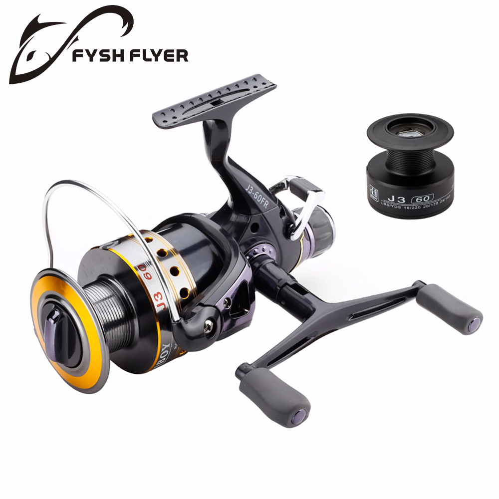 Fishing Reel Carp Spinning Reel J3FR Carbon Front and Rear Drags 18KG Drag 9+1 BB Metal Spool Double / Wooden Handles
