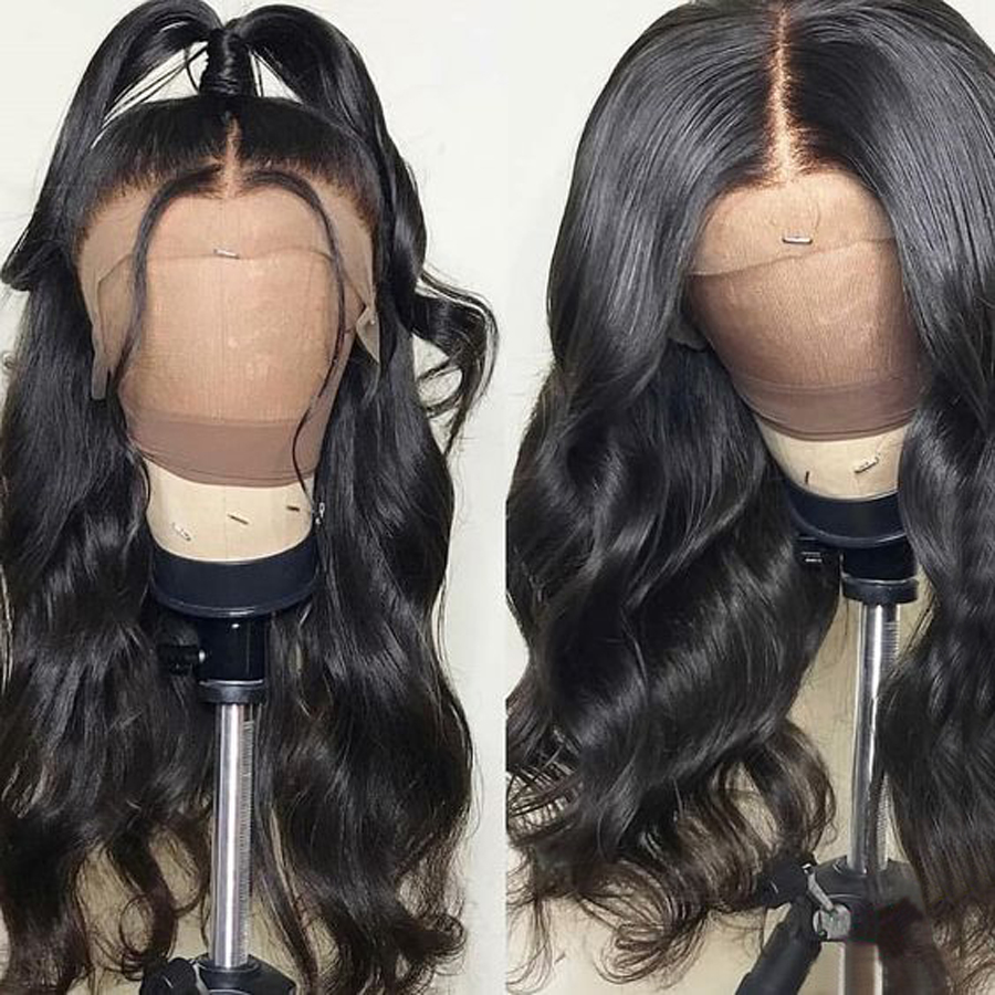 RXY Pre Plucked Full Lace Human Hair Wigs For Women Brazilian Body Wave Glueless Full Lace Wigs With Baby Hair Remy Black Hair (1)