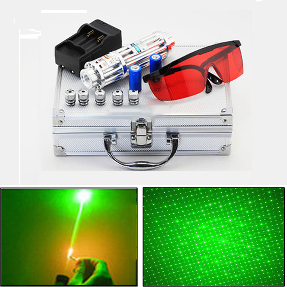 High Power Green Laser Pointer Military Powerful laser sight 5000m Focusable lazer pen Focusable Burn Match