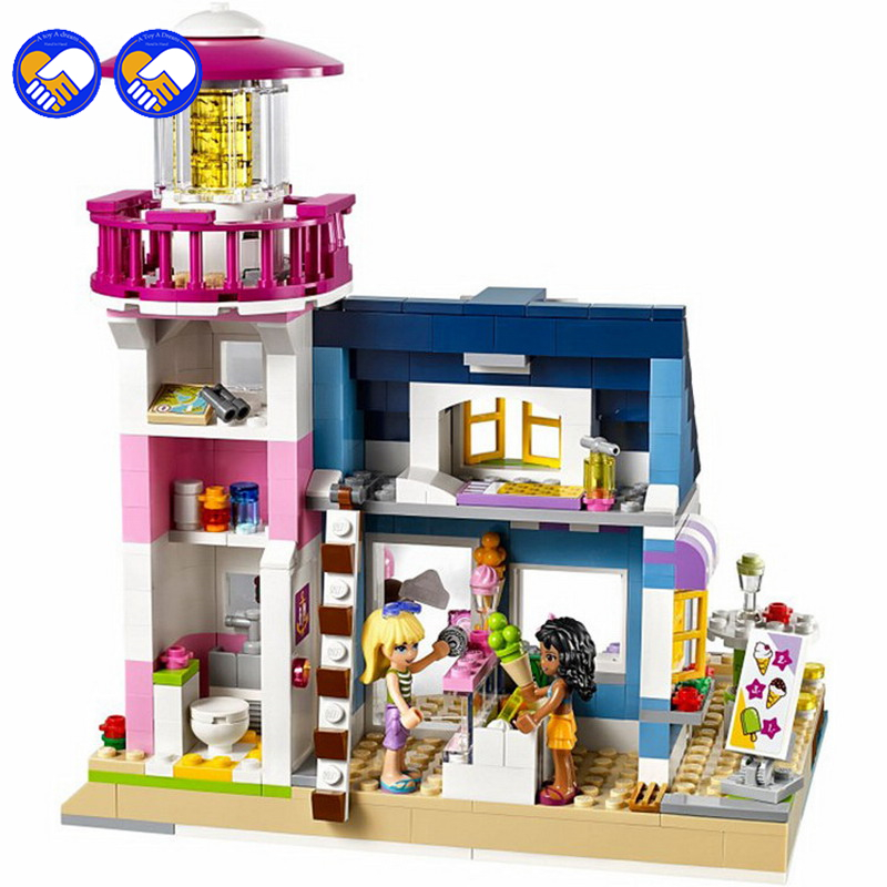 A toy A dream Bela 10540 478Pcs Friends Heartlake Lighthouse Model Building Kits Blocks Bricks Girl Toys Gift 41094 Lepin игрушка lego friends 41094 маяк