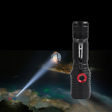 LED Rechargeable Flashlight USB-Charger Powerful Super Bright T6 18650 Battery 20000 Lumens 5 Modes Zooming Torch For Outdoor 2500 lumens 5x xml t6 led usb headlight flashlight super bright 6 modes lamp for 2 x 18650 battery
