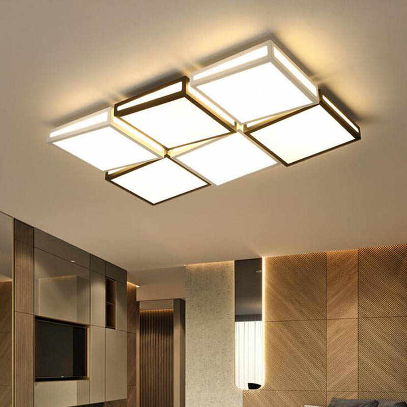 Lamps Living Room Ceiling Lamp Led Bedroom Lamp Creative Rectangular Hall Living Room Lamp Simple Modern Atmosphere Home Led Aliexpress