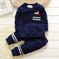 Mais novo 2016 meninos primavera bebê ternos infantil / recém-nascidos roupas conjuntos crianças treino Casual crianças ternos