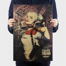 Suicide Squad Margot Harley Quinn película vintage Poster decoración del hogar pintura impresiones clásicas
