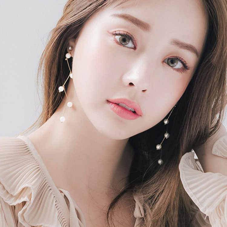 New Korean Simple Branches Bent Design Imitation Pearl Earrings Women's Clothing With Personalized Earrings Bridal Earrings