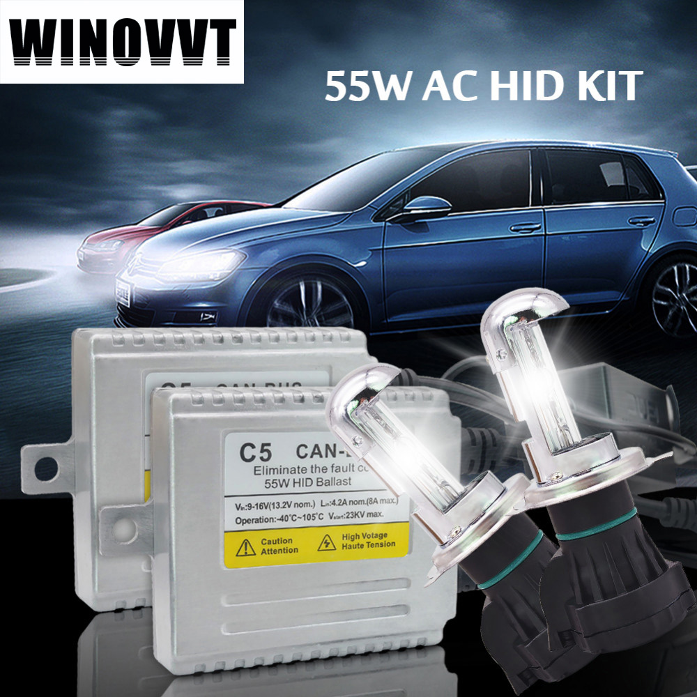 Un ensemble AC 55 W H4 xénon kit HID Canbus sans erreur xénon ampoule 4300 k 6000 k 8000 k HID Ballast xénon lampe