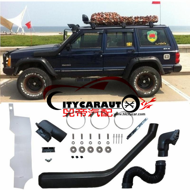 CITYCARAUTO AIRFLOW SNOKEL FOR CHEROKEE XJ 2500 213 Air Intake LLDPE Snorkel Kit Set FIT XJ CHEROKEE 2500 213  1985.1-1995.1 citycarauto 2007 2011 airflow snokel fit for jeep wrangler jk series 3 8l v6 air ram intake snorkel kit black