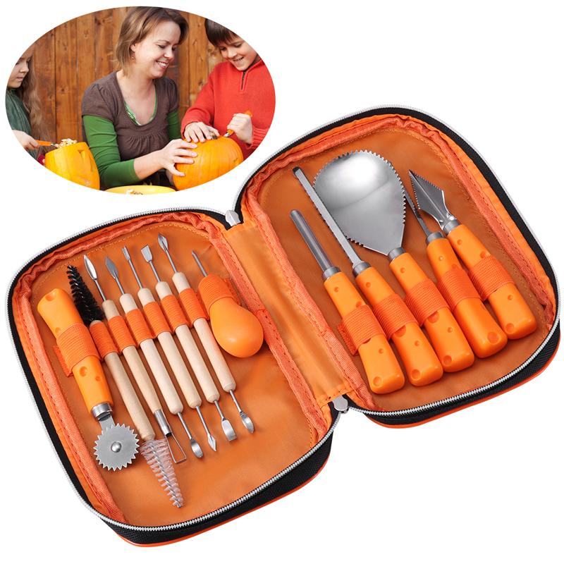 Set of 13PCS Halloween Pumpkin Cuttings Carving Kit Stainless Steel High Quality Durable Carving Tools for