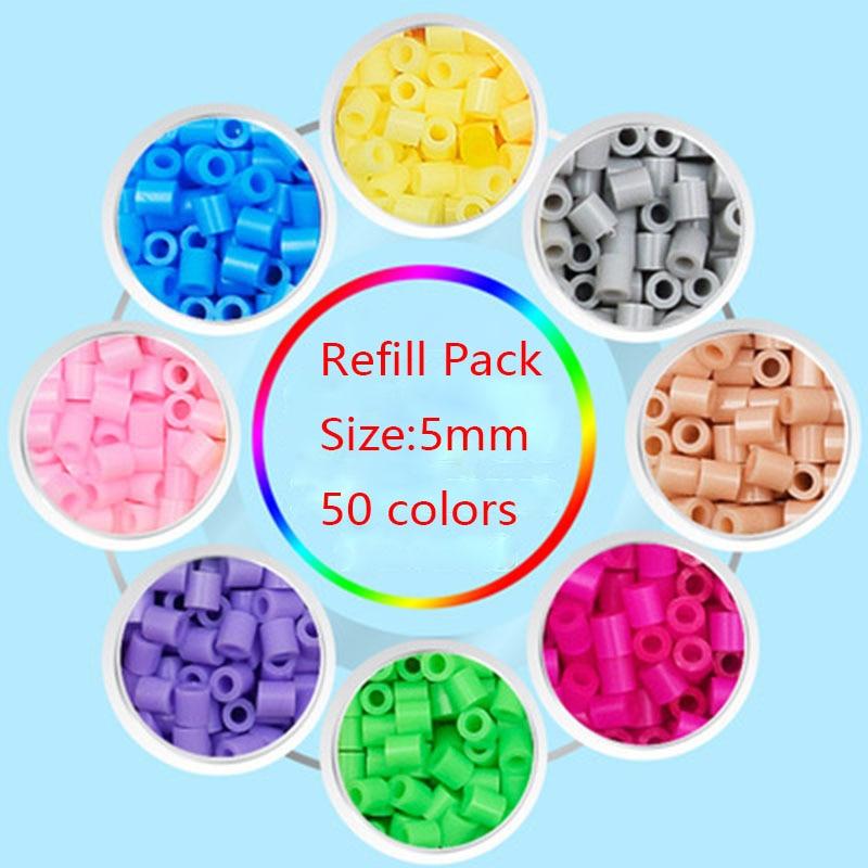 4000pcs/bag 5mm Hama Beads Perler Beads Kids Toys EVA Fun Craft DIY Handmaking Fuse Bead Creative Intelligence Puzzle Oyuncak