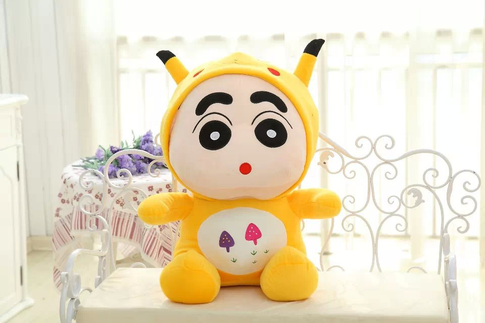 free shipping,,large toy Crayon Shin-chan transfer to Pikachu about 60 cm plush toy soft throw pillow ,Christmas gift h267 free shipping about 60cm cartoon totoro plush toy dark grey totoro doll throw pillow christmas gift w4704