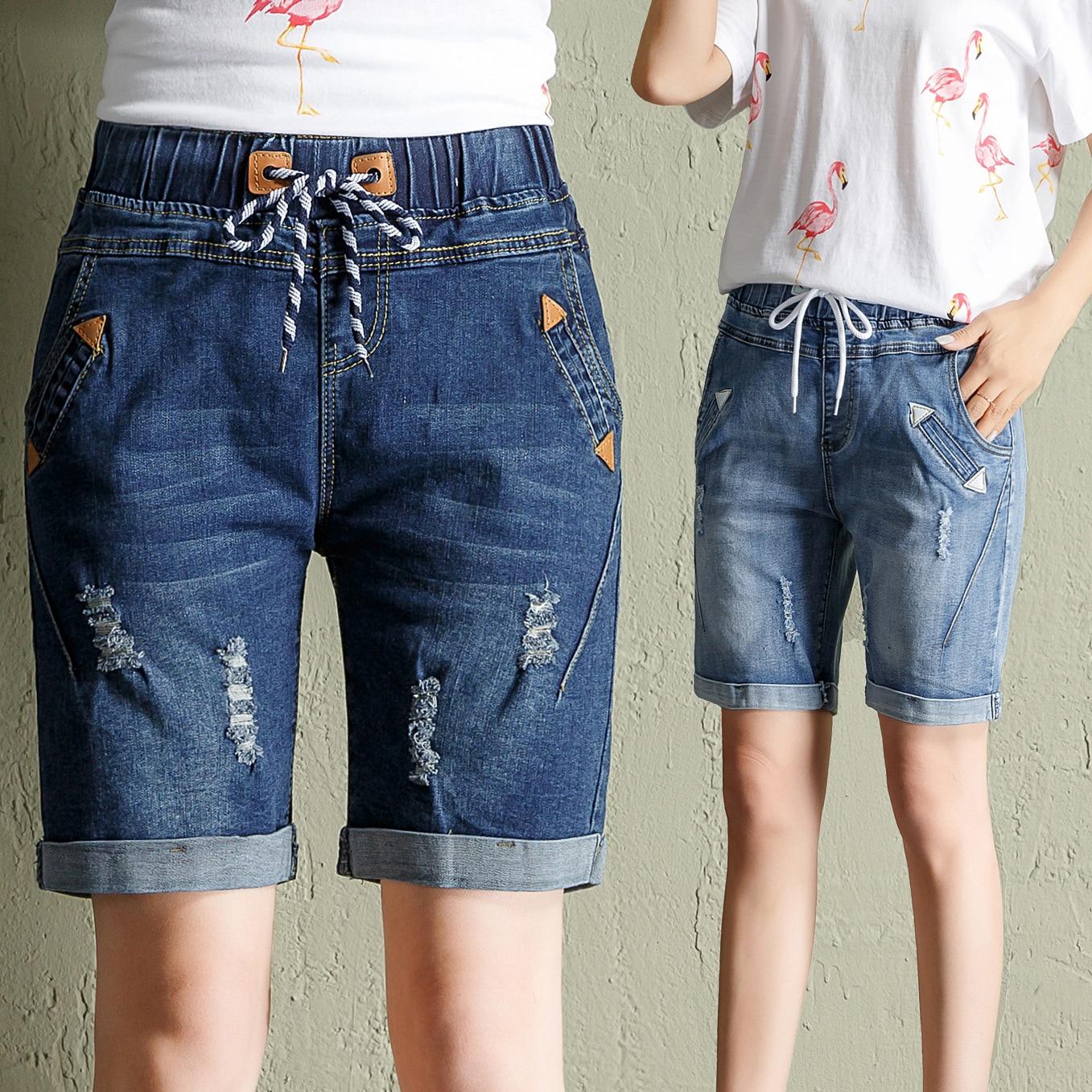 Denim Shorts Harem Trousers-8 Female Plus-Size Summer Women Students Wide-Leg 200 Five-Points
