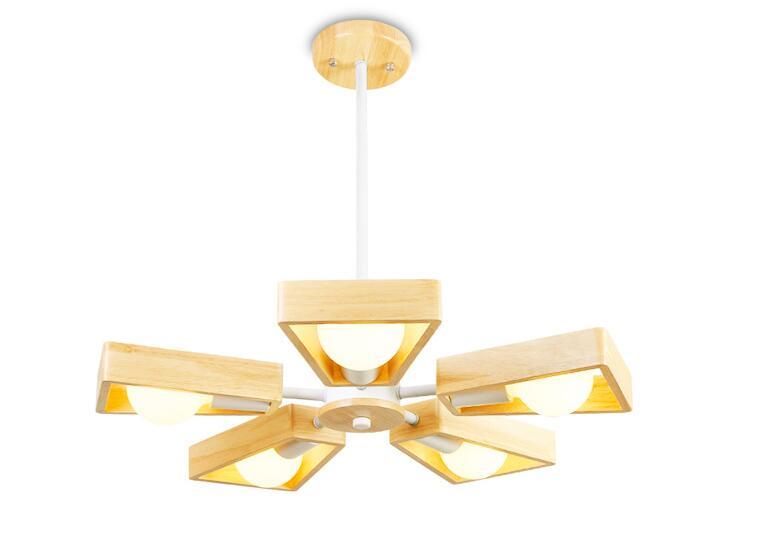 купить Nordic Pendant Lights Creative Wood Lamps Bedroom Restaurant Wood Personality Minimalist Wooden Chandelier Pendant Lamp WPL129 онлайн
