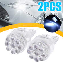 2pcs T20 7443 7440 9LED White Bulbs Turning Signal Brake Tail Lamp Light 36LM Lumen 34 x 21mm