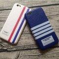 El más nuevo estilo británico Simple de la raya Case TB cuero de la PU duro caso para iphone 6 6 s 4.7 '' 6 más 6 s plus 5.5 pulgadas man ' s caso
