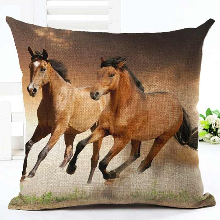 LYN & GY 新 3D 馬動物パターン 45*45 センチメートル装飾枕ケース枕ケースソファー中国スタイル