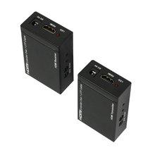 СЖС Горячая 1080 P HDMI Балун Extender Конвертер CAT5E/CAT6 Передатчик Приемник Двойного ИК Управления 50 м