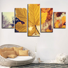 Art HD Printing Modular Poster Pictures 5 Pieces Maple Leaf Frameworks Home Living Room Wall Decor Still Life Canvas Paintings