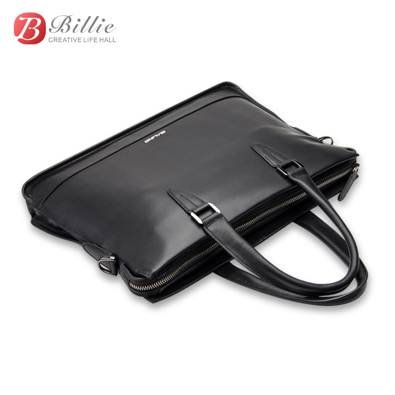 "Image 5 - Laptop bag case For Macbook Asus Dell 12""13""14"" Deluxe Genuine Men's Briefcase High Quality handbag computer bags Notebook bag-in Laptop Bags & Cases from Computer & Office"